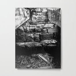Virgil Avenue Bones Black & White Metal Print