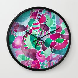 Frosted Sea Glass Wall Clock
