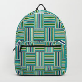 Kente Parquet blue green Backpack