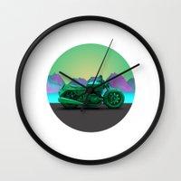 motorbike Wall Clocks featuring motorbike by zKrajnc
