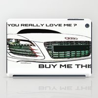 audi iPad Cases featuring Zaklassic - Z-06A by Zak Ashton