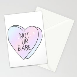 Not Ur Babe Stationery Cards