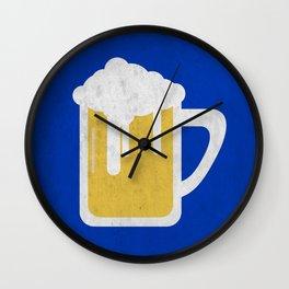 Blue beer Wall Clock
