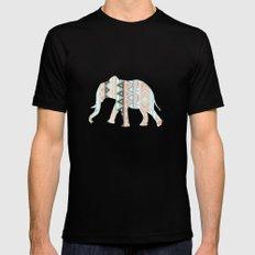 Elephant  Mens Fitted Tee MEDIUM Black