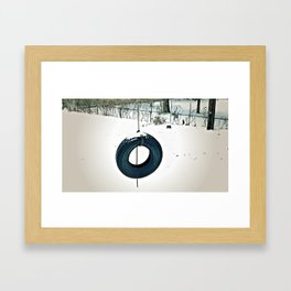 Snow Tire Framed Art Print