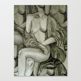 Lady Unknown Canvas Print