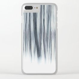Snowstorm Clear iPhone Case
