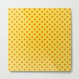 Polkadot Sunbath Yellow Metal Print