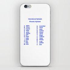International Alphabet iPhone & iPod Skin