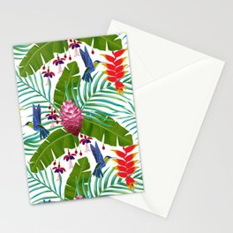 Hummingbird in the Rainforest Stationery Cards