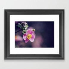 Pretty Pink flower Framed Art Print