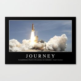 Journey: Inspirational Quote and Motivational Poster Canvas Print
