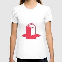 milk T-shirts featuring Milk by SMOKIN' HOT MEN