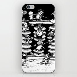 Monochrome surrealistic Illustration:Calculation/Abacus iPhone Skin