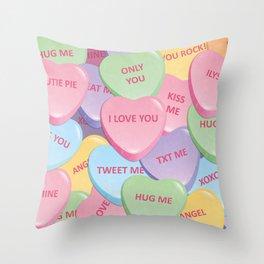 Valentine's candies Throw Pillow