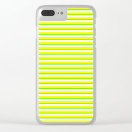 Banana and Lime Yellow and Green Stripes Clear iPhone Case