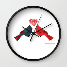 Birds In Love Wall Clock