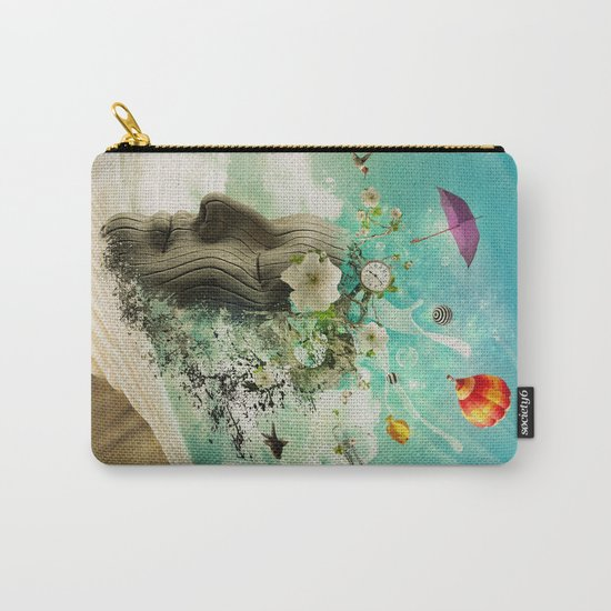 Meditation Yoga ART Surreal Modern Painting  Carry-All Pouch