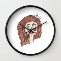 artpop Wall Clocks featuring Artpop by Madison Neumann
