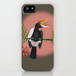 A fruity day for the hornbill iPhone Case