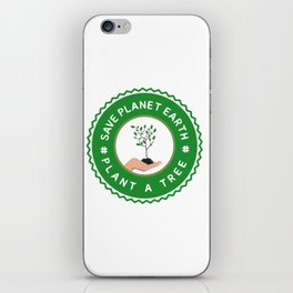 Save Planet Earth - Plant a Tree iPhone Skin