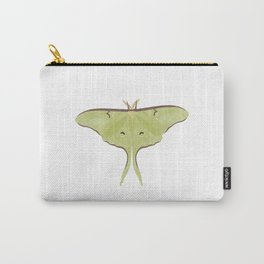 Luna Moth Green Insect Digital Watercolor, Butterfly, Minimalist Carry-All Pouch