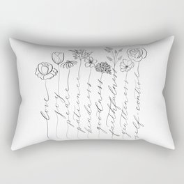 Fruit of the Spirit black/white Rectangular Pillow