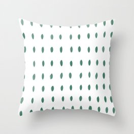 Paint Dabs in Green Throw Pillow