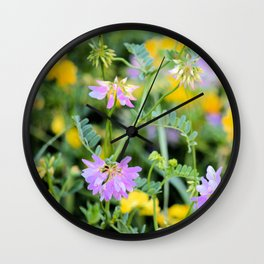 Roadside Bouquet Wall Clock