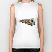 subway Biker Tanks featuring subway art by design lunatic