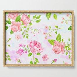 English Rose Pattern 04 Serving Tray