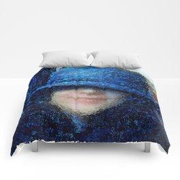 The Blue Cloche Hat Comforters