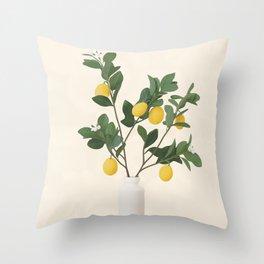 Lemon Branches II Throw Pillow