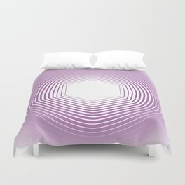 Polygon in White Pink Duvet Cover