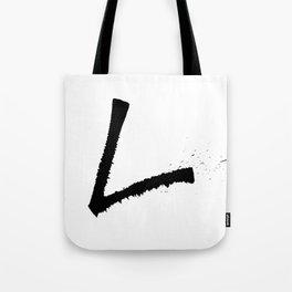 Letter L Ink Monogram Tote Bag