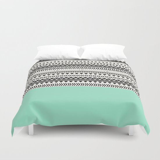 AZTEC AND MINT Duvet Cover
