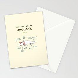 Anatomy of an Axolotl Stationery Cards