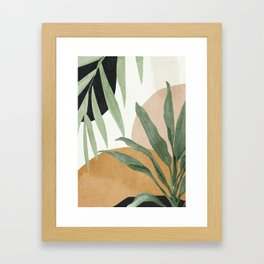 Abstract Art Tropical Leaves 4 Framed Art Print
