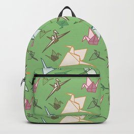 Paper cranes playful origami pattern Backpack