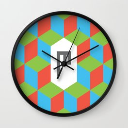 "Monogram Arabic Letter ""M"" Wall Clock"