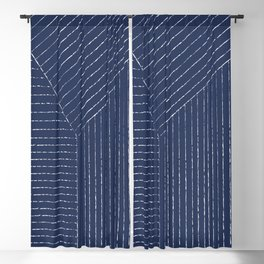 Lines (Navy) Blackout Curtain