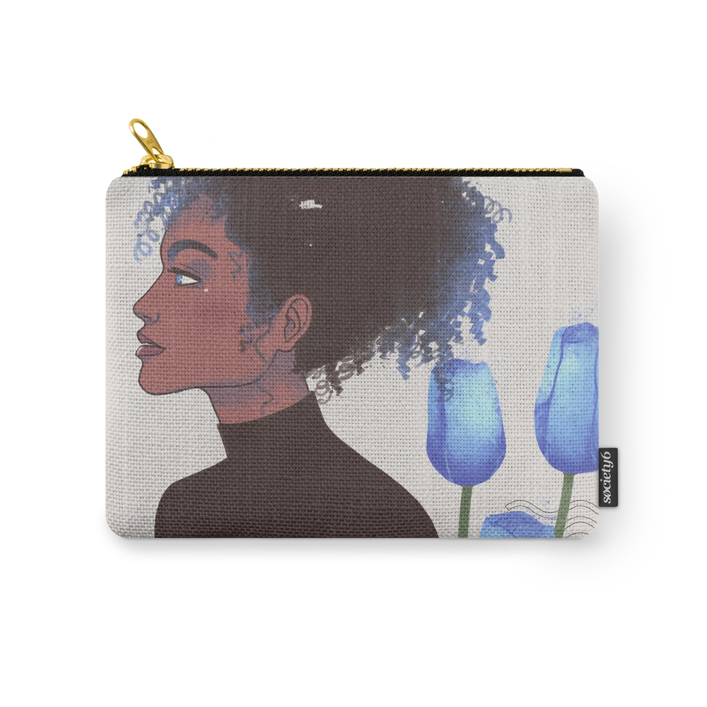 Beauty And Grace Carry-All Pouch by agataasofroniei