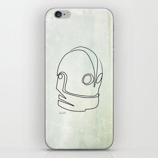 One line Iron Giant iPhone & iPod Skin