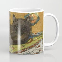 "Théophile Steinlen ""Cat on a blanket"" Coffee Mug"