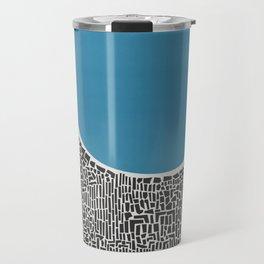 Abstract Blue Lake Travel Mug