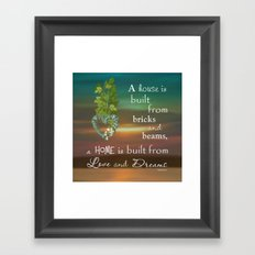 Love and Dreams Framed Art Print