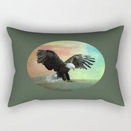Bald Eagle Landing Freedom Rectangular Pillow