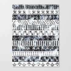 PRIYA Stripe {B&W} Canvas Print