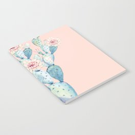 Rose Desert Cactus on Pink by Nature Magick Notebook