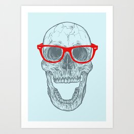 Smart-Happy Skully Art Print